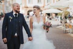 Hochzeitsfotograf in der Pfalz - Brautpaarshooting standesamtliche Hochzeit Rathaus Speyer und Dom zu Speyer