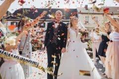 Hochzeitsfotograf im Saarland und der Pfalz - russische Hochzeit Kaiserslautern, Tamada, Konfettikanone, Einzug