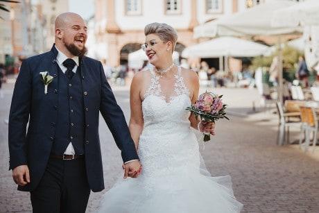 Hochzeitsfotograf in der Pfalz - Brautpaarshooting am Dom zu Speyer