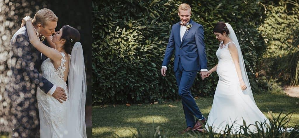 Hochzeitsfotos mit Getting Ready im Weingut Fitz-Ritter Bad Dürkheim - First Look