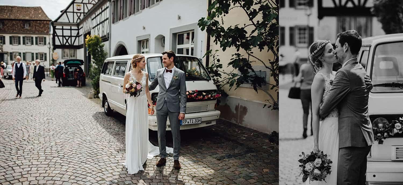 Hochzeitsfotograf im Saarland und der Pfalz - Hochzeit mit Brautpaarshooting historisches Rathaus Deidesheim