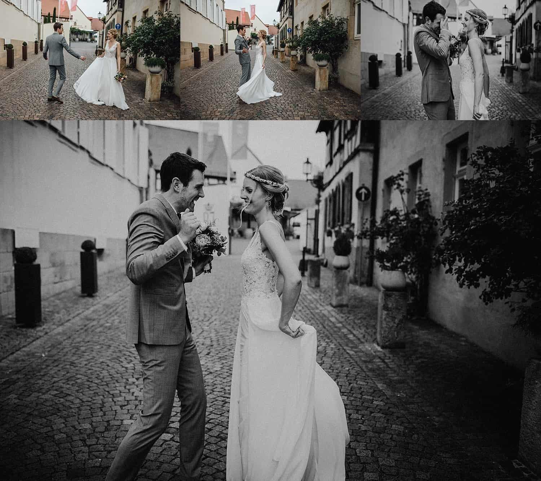 Hochzeitsfotograf im Saarland und der Pfalz - Hochzeit mit Brautpaarshooting in Deidesheim